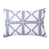 Bandhini Homewear Design Medium Cushion Navy / Outdoor / 14 x 21 Outdoor Mosaic Navy Lumber Cushion 35 x 55 cm