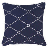 Bandhini Homewear Design Medium Cushion Navy / 20 x 20 Outdoor Dots Navy Medium Cushion 50 x 50 cm