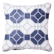 Bandhini Homewear Design Medium Cushion Navy / 20 x 20 Outdoor Pagoda Navy Medium Cushion 50 x 50 cm