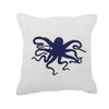 Bandhini Homewear Design Medium Cushion Navy / 20 x 20 Sea Octopus Navy Medium Cushion 50 x 50 cm