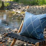 Bandhini Homewear Design Medium Cushion Storm / 20 x 20 Outdoor Dots Storm Medium Cushion