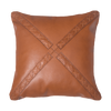 Bandhini Homewear Design Medium Cushion Tan / 20 x 20 Leather Cross Tan Lounge Cushion 55 x 55 cm