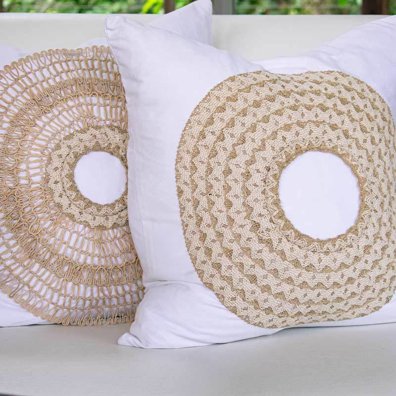 Bandhini Homewear Design Medium Cushion White / 20 x 20 African Armour White Medium Cushion 50 x 50cm
