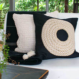 Bandhini Homewear Design Medium Natural / 20 x 20 Knit Knot Medium Cushion 50x50cm