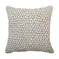 Bandhini Homewear Design Medium Taupe / 20 x 20 inches Knit Rope Taupe Medium Cushion 50 x 50cm