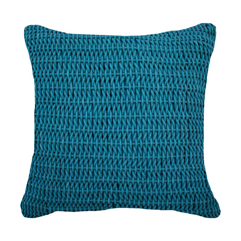 Bandhini Homewear Design Medium Teal / 20 x 20 inches Knit Knot Teal Medium Cushion 50 x 50cm