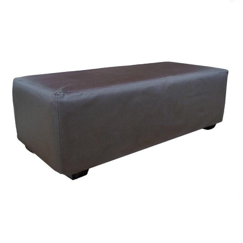 Bandhini Homewear Design Ottoman Natural / Zans Ottomans Ottoman Chaise Leatherette Bark