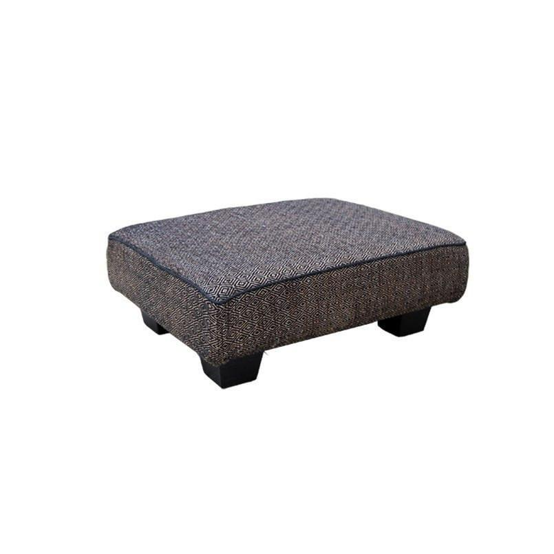 Bandhini Homewear Design Ottoman Natural / Zans Ottomans Ottoman Footstool Diamond Black 60x45x22cm