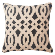 Bandhini Homewear Design Outdoor Black / Primitive / 22 x 22 Outdoor Diamond Scroll Black Cushion 55 x 55 cm