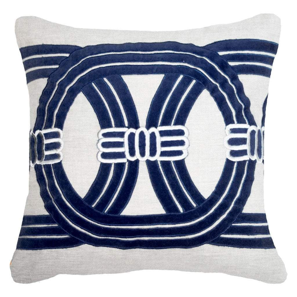 Bandhini Homewear Design Outdoor Navy / 22 x 22 Outdoor Barrel Navy Lounge Cushion 55 x 55 cm