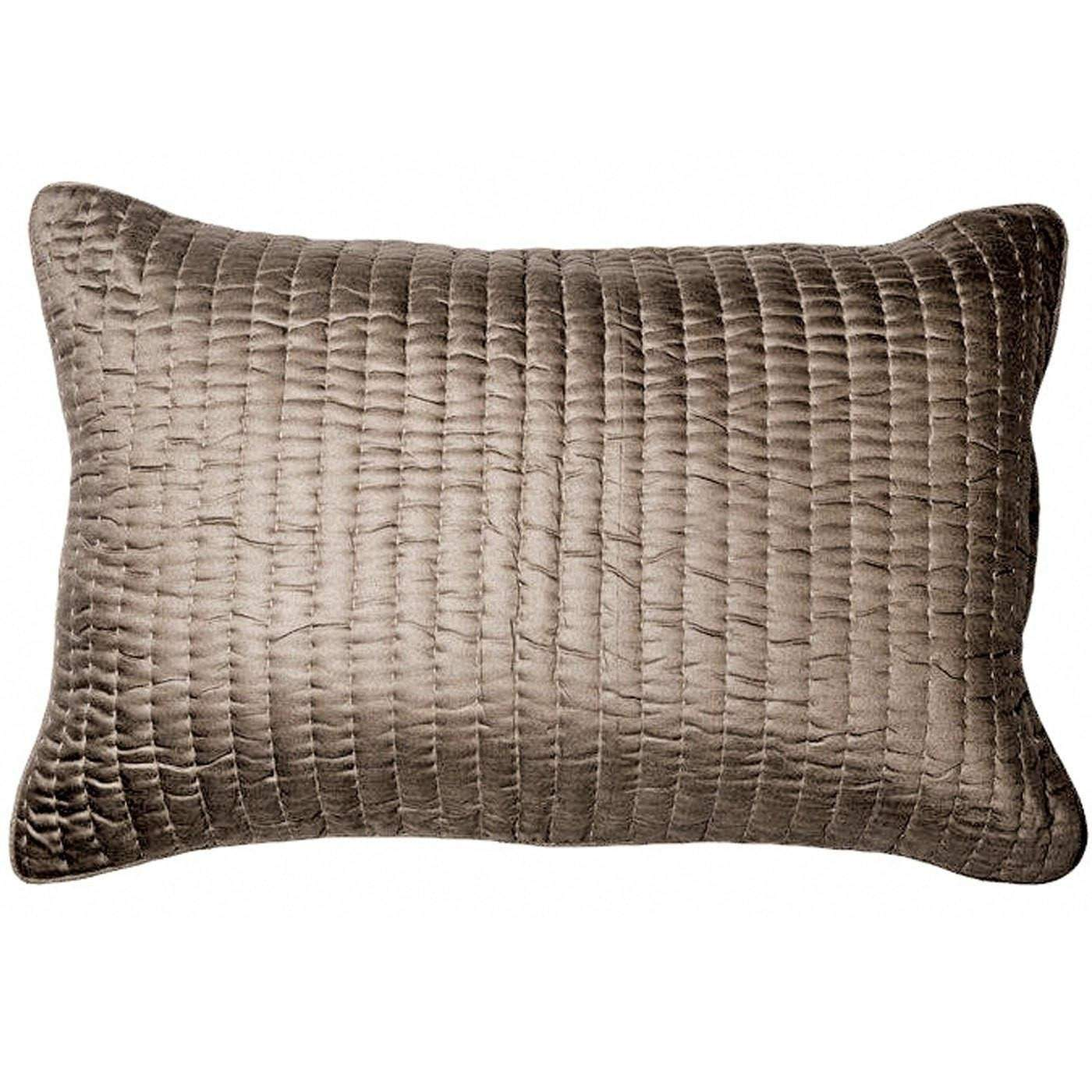 Bandhini Homewear Design Sham Cushion Beige / Primitive Tribe / 18 x 27 Gudri Titanium Sham Cushion 46x69cm