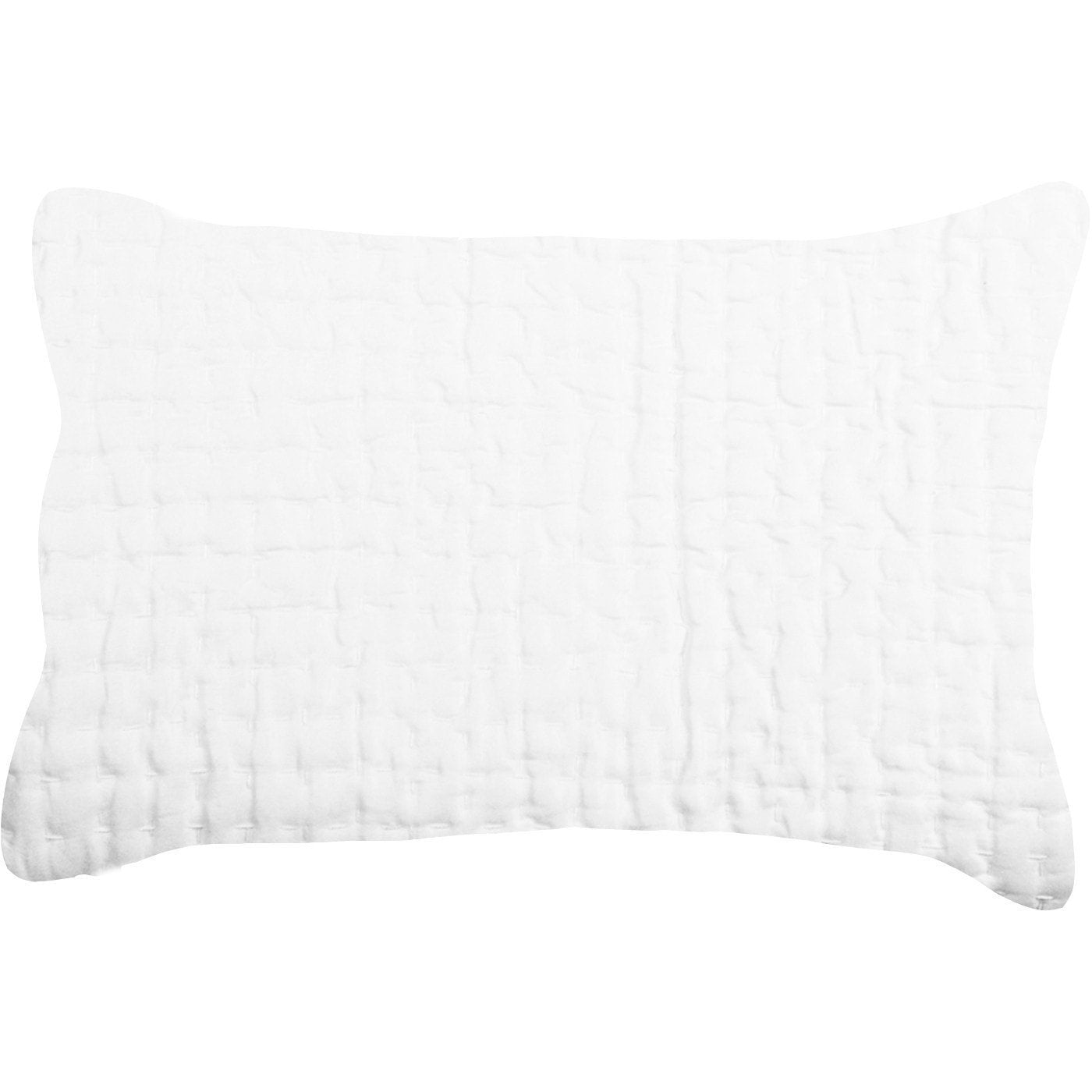 Bandhini Homewear Design Sham Cushion White / 18 x 27 Gudri White Sham With White Stitching 46x69cm