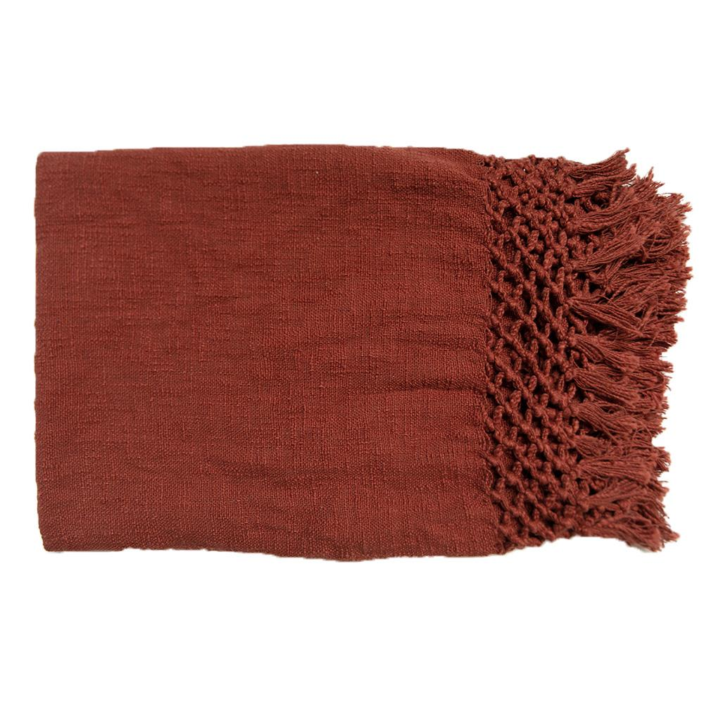 Bandhini Homewear Design Throw Rust / 130 x 170 cm Check Knot Rust Throw 130 x 170 cm