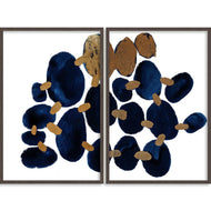 Bandhini Homewear Design Zoe Bios Creative Gold Leaf / 60cm x 80cm Lapis In Snow