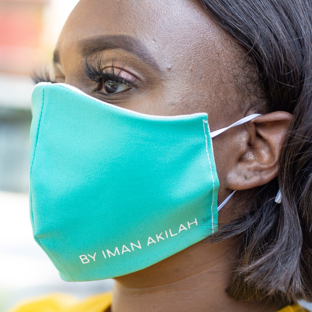 Teal Face Mask by Iman Akilah
