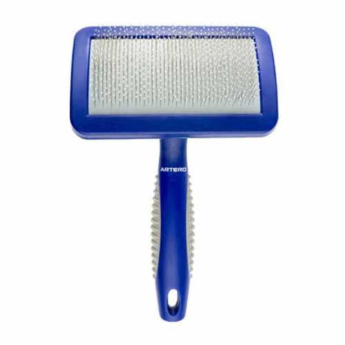 Small, Blue Protected Slicker Brush