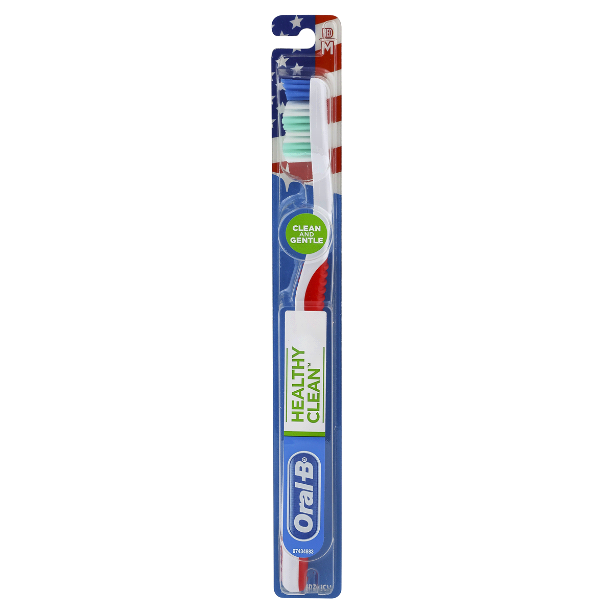 ORAL B MANUAL HEALTHY CLEAN TOOTHBRUSH MEDIUM
