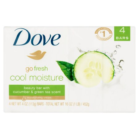 DOVE COOL MOISTURE BEAUTY BARS WITH CUCUMBER & GREEN TEA 2 COUNT 4OZ BAR