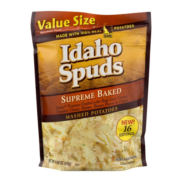 IDAHO SPUDS SUPREME BAKED VALUE SIZE 14.96 OZ