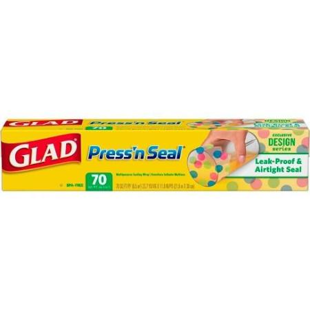 GLAD PRESS N SEAL PLASTIC WRAP 70SQFT