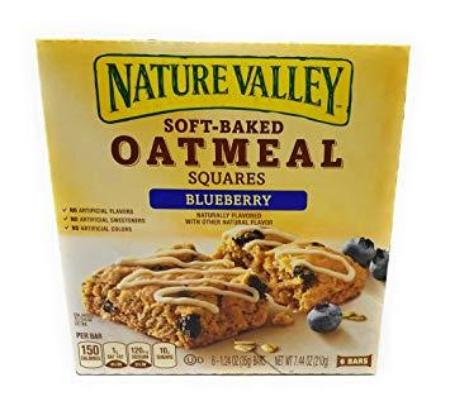 NATURE VALLEY SOFT BAKED OATMEAL SQUARE BARS BLUEBERRY 7.44 OZ