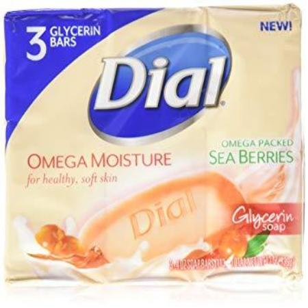 DIAL OMEGA PACKED SEA BERRIES GLYCERIN SOAP 3PACK 40Z BARS (12OZ)