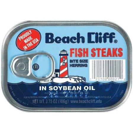 BEACH CLIFF FISH STEAKS IN SOYBEAN OIL 3.75 OZ