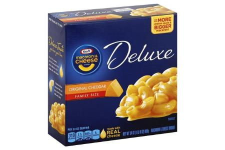KRAFT MAC & CHEESE ORIGINAL CHEDDAR DELUXE FAMILY SIZE 24 OZ