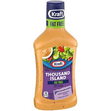 KRAFT THOUSAND ISLAND FAT FREE SALAD DRESSING 16 OZ