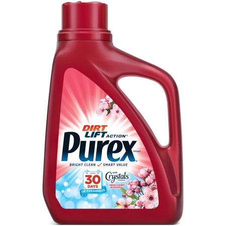 PUREX LIQUID FRESH CHERRY BLOSSOM DETERGENT 50 OZ