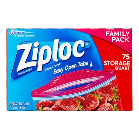 ZIPLOC STORAGE BAGS MEGA GALLON 75 CT