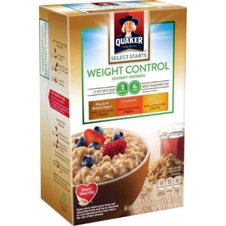 QUAKER WEIGHT CONTROL VARIETY PACK (MAPLE & BROWN SUGAR, CINNAMON, BANANA BREAD) 12 OZ