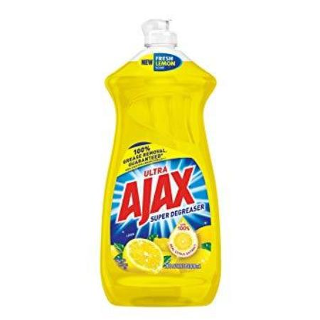 AJAX SUPER DEGREASER LEMON DISH LIQUID 52 OZ