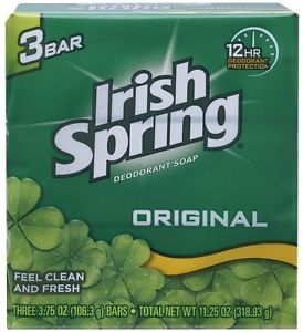 IRISH SPRING SOAP 3.75 OZ 3 BARS (11.25 0Z)