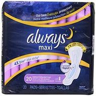 ALWAYS EXTRA HEAVY OVERNIGHT MAXI WITH FLEXI WINGS 20 PADS