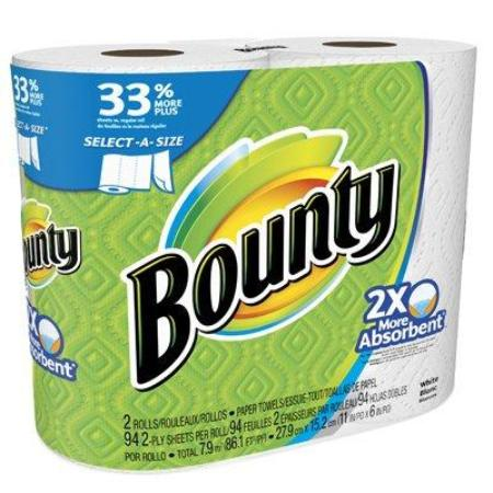 BOUNTY BIG ROLLS WHITE PAPER TOWEL 2PCK