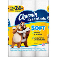 CHARMIN ESSENTIALS SOFT TISSUE DOUBLE ROLLS 12EA
