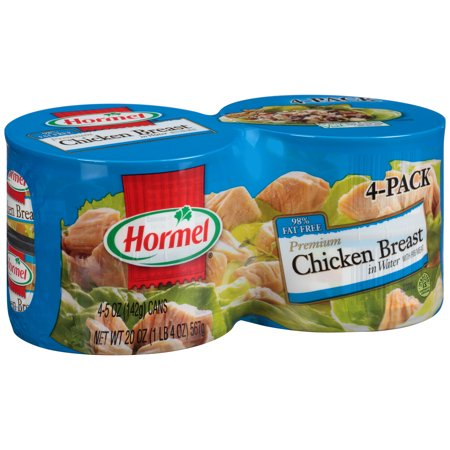 HORMEL PREMIUM CHUNK CHICKEN BREAST IN WATER 4-5 OZ