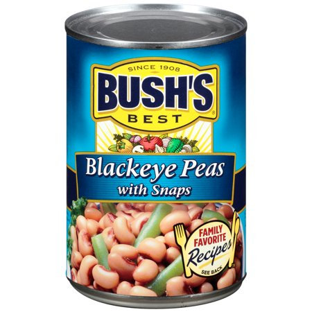 BUSHS BLACKEYE PEAS WITH SNAPS 15.8 OZ