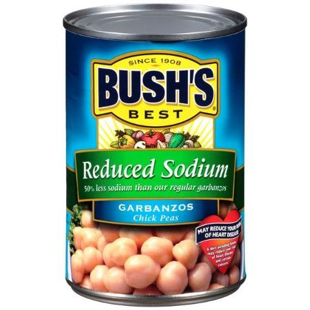 BUSH REDUCED SODIUM GARABNZO BEANS 16.0 OZ