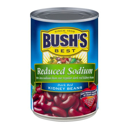 BUSH REDUCED SODIUM DARK RED KIDNEY BEANS 16 OZ