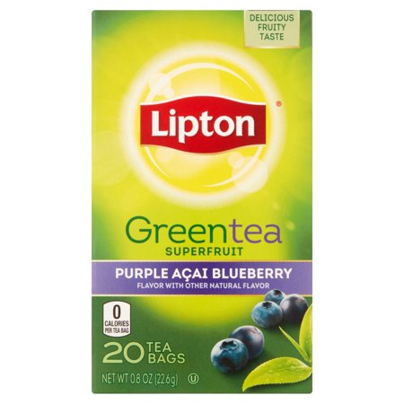 LIPTON GREEN TEA BAGS PURPLE ACAI BLUEBERRY 20 CT