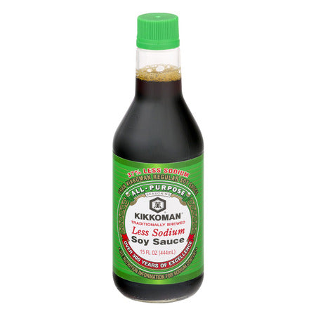 KIKKOMAN LESS SODIUM SOY SAUCE 15 OZ