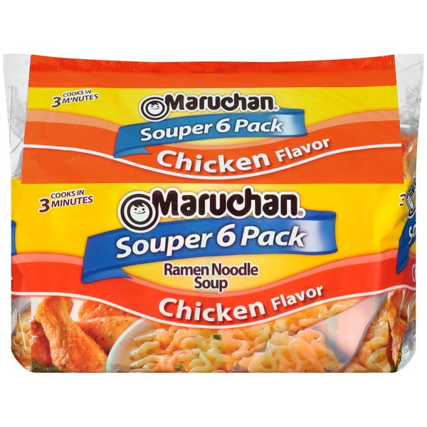 MARUCHAN RAMEN NOODLES SOUPER 6 PACK CHICKEN 18 OZ