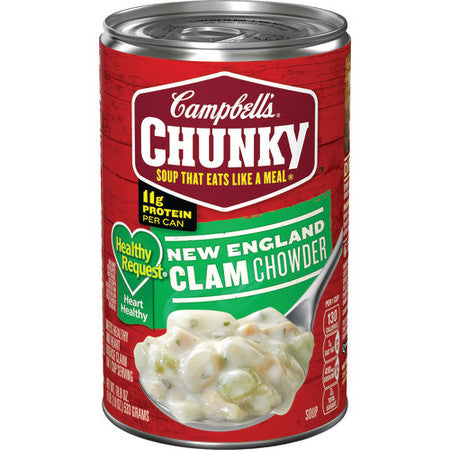 CAMPBELL'S CHUNKY HEALTHY REQUEST NEW ENGLAND CLAM CHOWDER SOUP 18.8 OZ