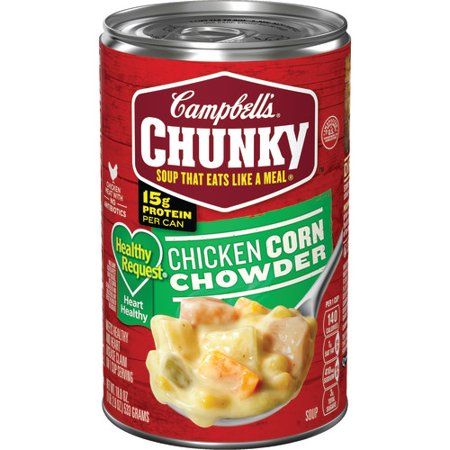 CAMPBELL'S CHUNKY HEALTHY CHICKEN CORN CHOWDER SOUP 18.8 OZ