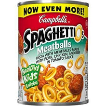CAMPBELL'S SPAGHETTI-Os PASTA WITH MEATBALLS 15.6 OZ