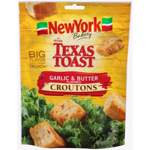 TEXAS TASTY CROUTONS GARLIC & BUTTER 5 OZ
