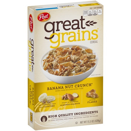 Post Great Grains Banana Nut Crunch 15.5 oz