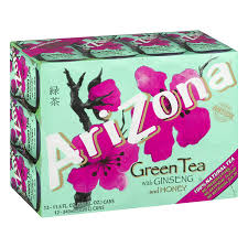 ARIZONA GREEN-TEA W/GINSENG 16 OZ 12 COUNT***SHIP TO ORDER BY NOON ON MONDAY'S ARRIVING THE FOLLOWING MONDAY FOR DELIVERY***